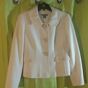 Cream colored blazer. Ann Taylor, lined size 2